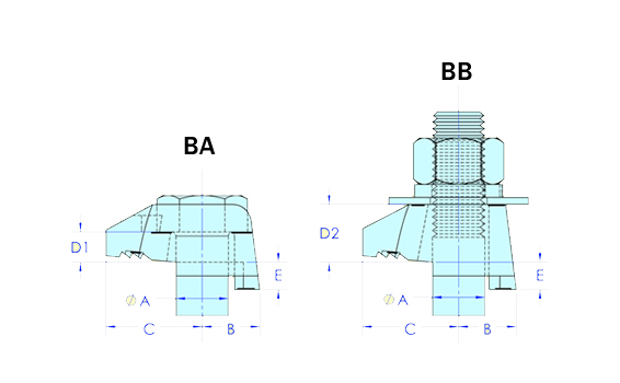 Diagram - Composants type BA & BB