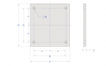 Diagram - Plaque de montage pour type BY